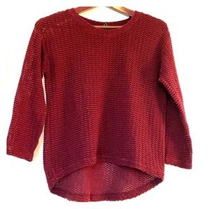 Forever 21 3/4 sleeve knit sweater burgundy Medium
